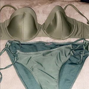Two toned Army green swim